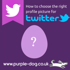 How to choose your twitter profile picture