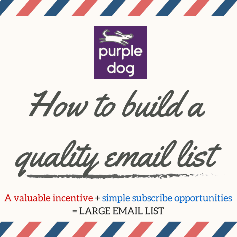 How to build a quality email list