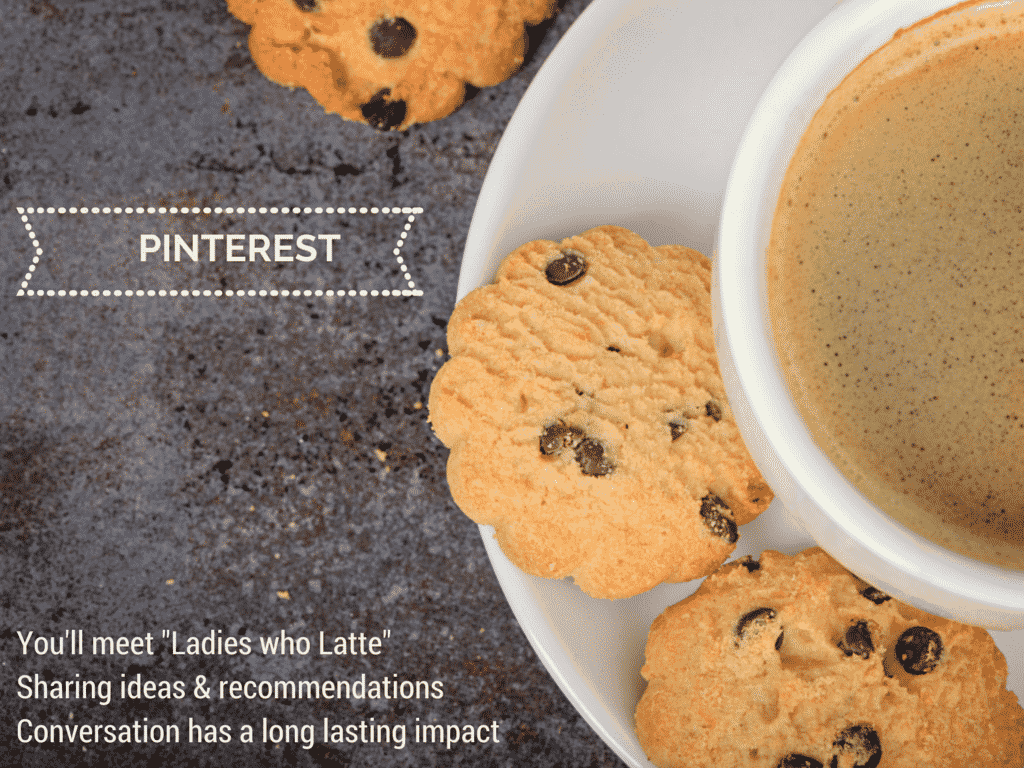 pinterest is like a busy coffee morning