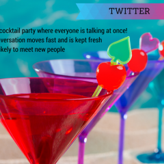 Twitter is like a Cocktail Party