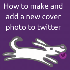 How to make and add a new cover photo to twitter