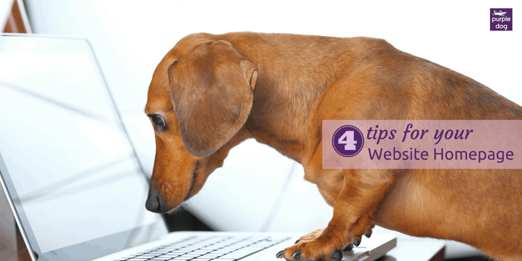 4 tips for your website homepage