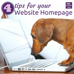4 tips for your Website Hompage