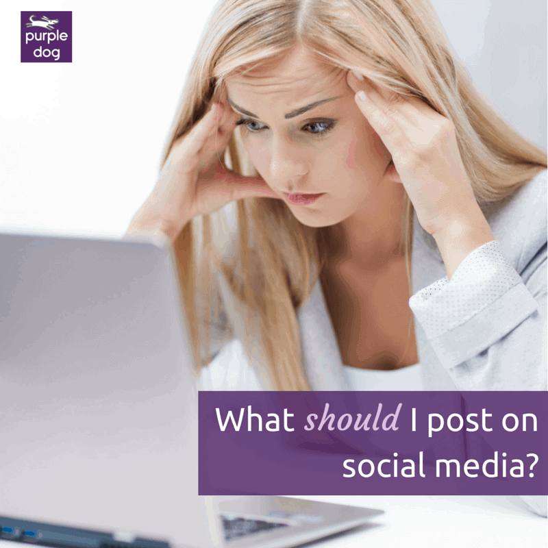 What should I post on social media?
