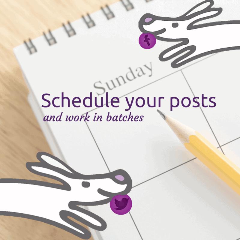 Schedule your posts
