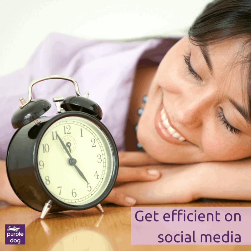 get efficient on social media