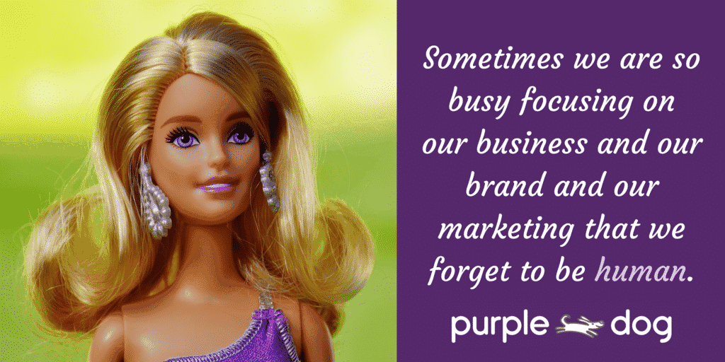 Sometimes we are so busy focusing on our business and our brand and our marketing that we forget to be human.