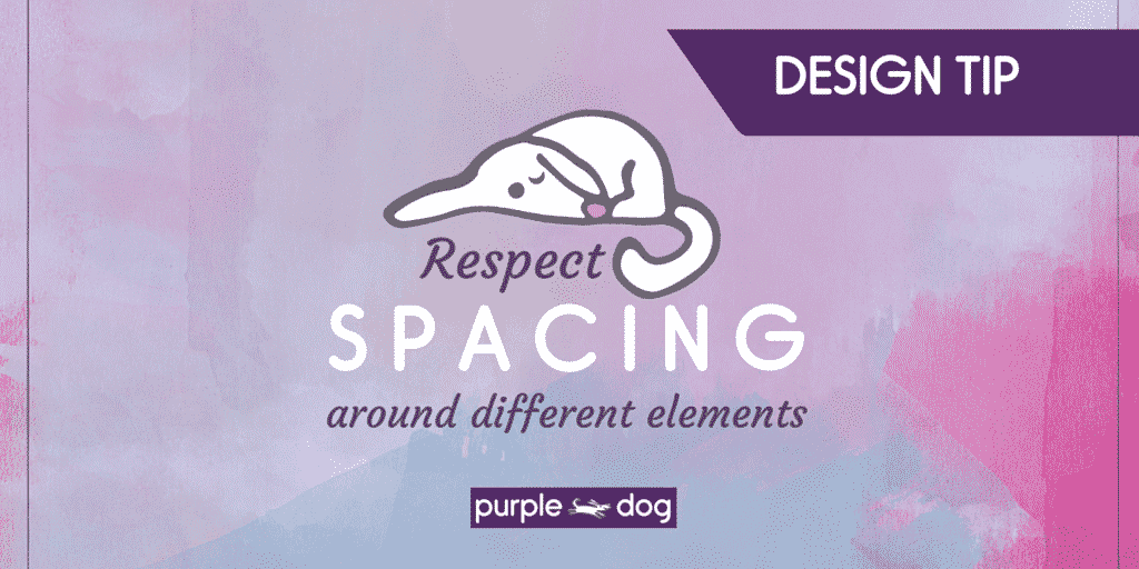respect spacing around different element