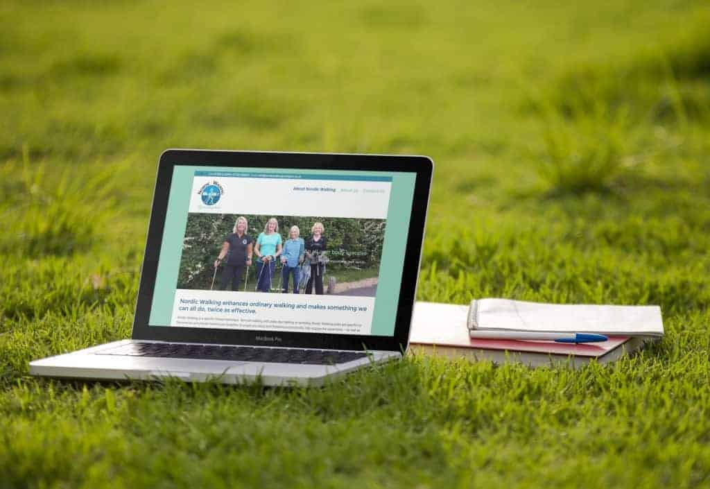 Website design for Nordic Walking Lymington
