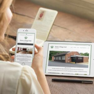 WordPress website for Ibsley Village Hall