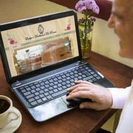 Website design for Evelyn's Tea Rooms