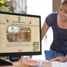 Website design for Evelyn's Tea Rooms
