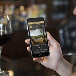 Website for Setley Ridge Vineyard