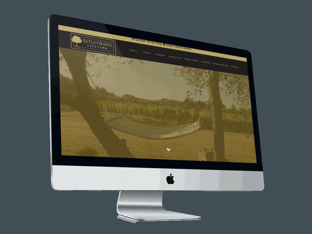 Setley Ridge Vineyard Website