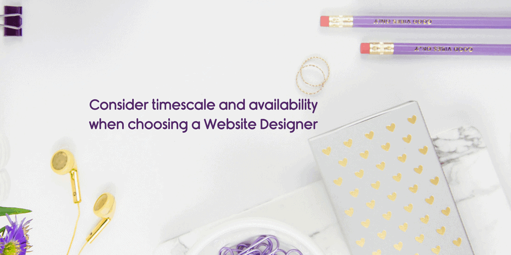 Choosing a website designer have they got time