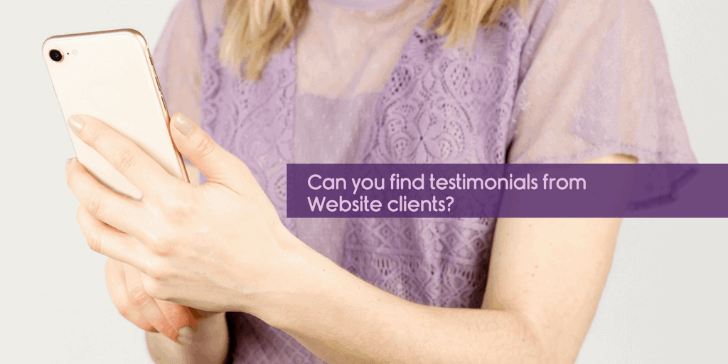 choosing a website designer - can you find testimonials from website clients