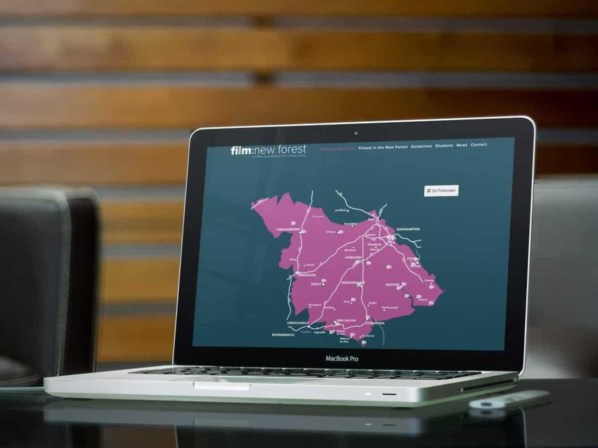 website design for Film New Forest