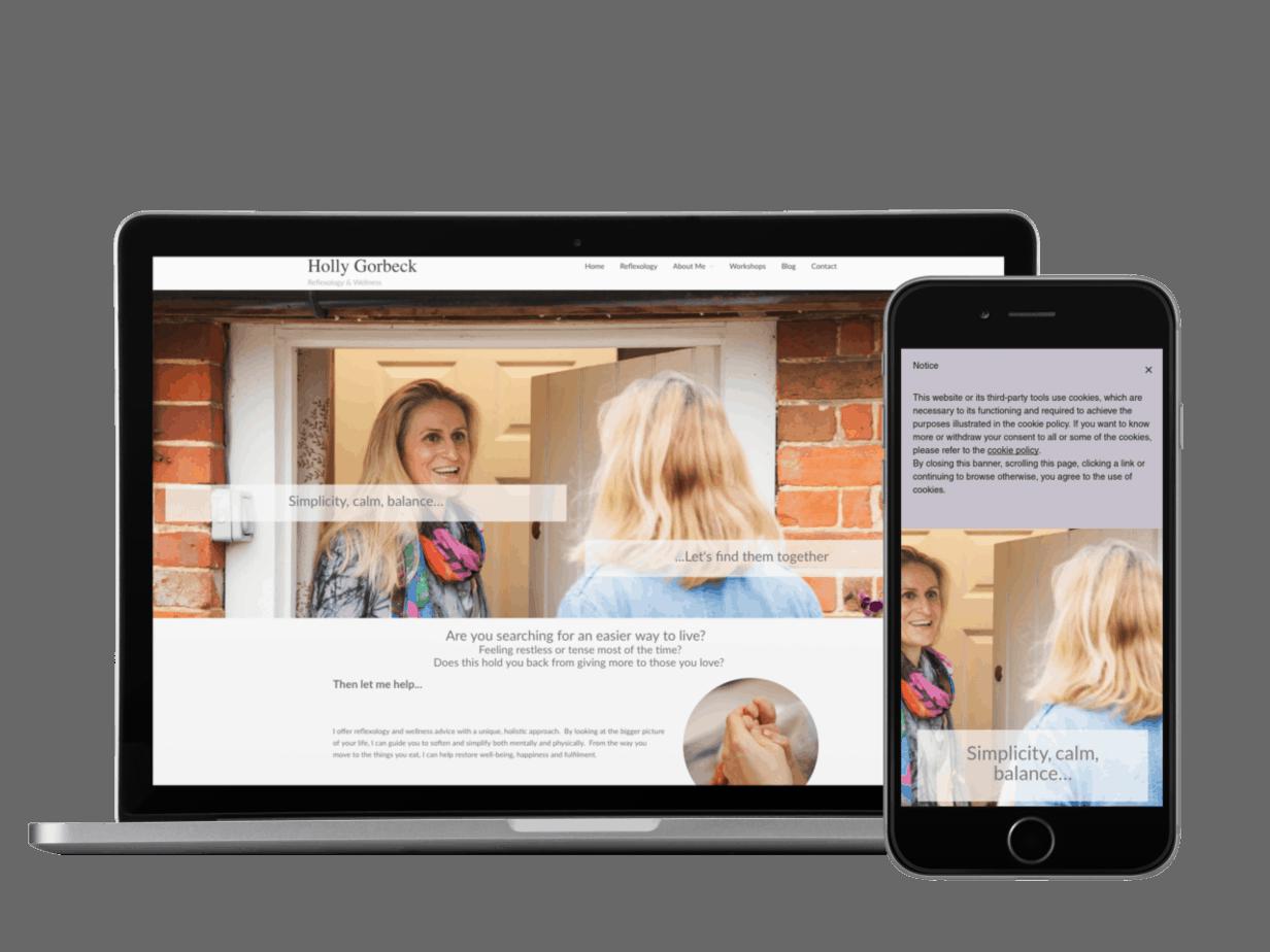Holly Gorbeck Reflexology Website
