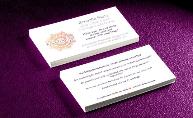 Business Card Design for In balance hot yoga
