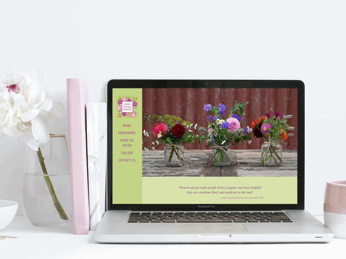 Website Design for Garden-Cottage-Flowers
