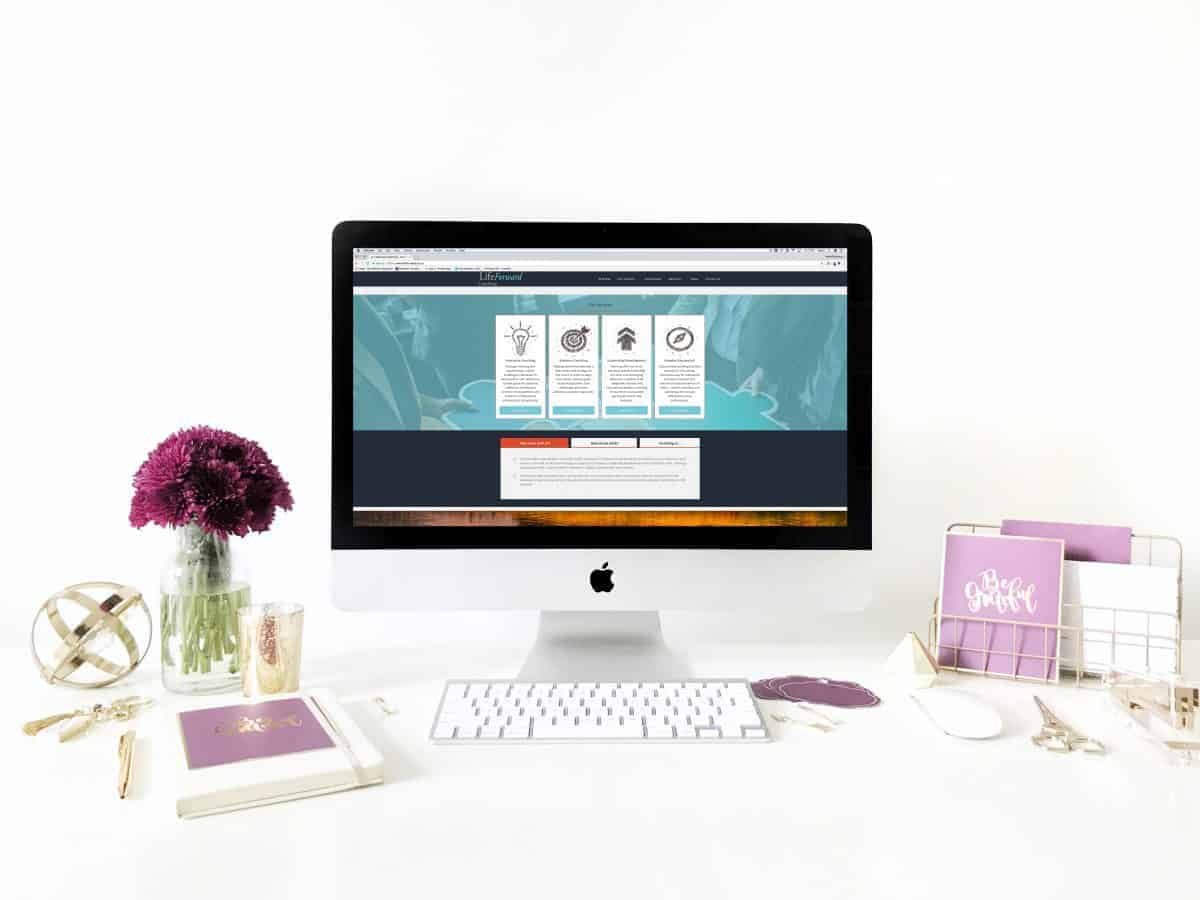 Website Redesign LifeForward Coaching HomePC