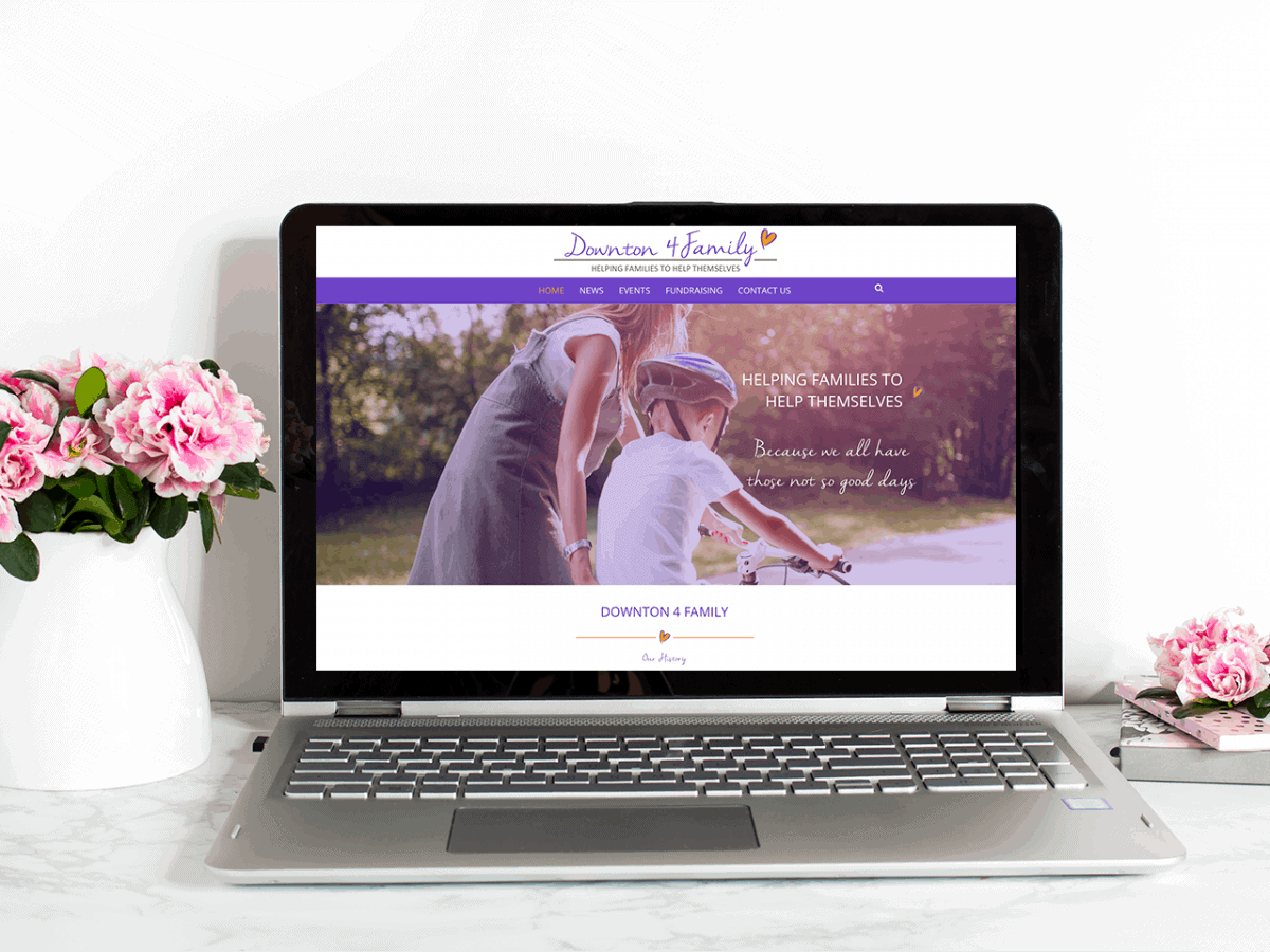 Website design for Charity Downton 4 family
