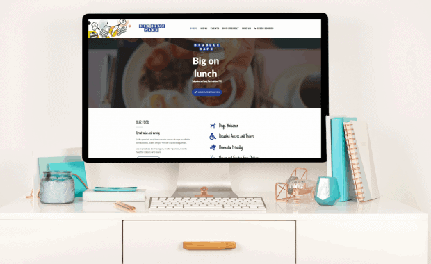 Conversion to a CMS for Big Blue Cafe