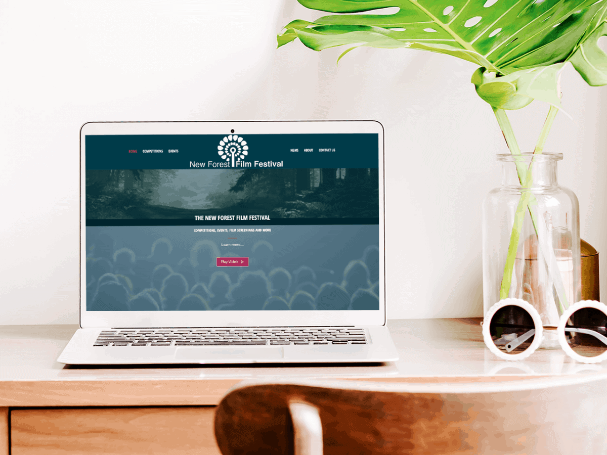 Website design for the New Forest Film Festival