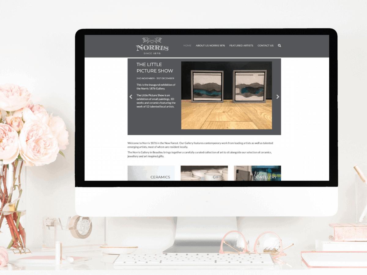 Website Design for Norris Gallery