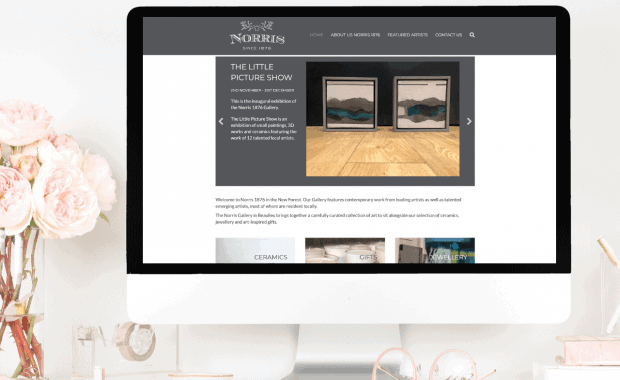 Website Design for Norris Gallery