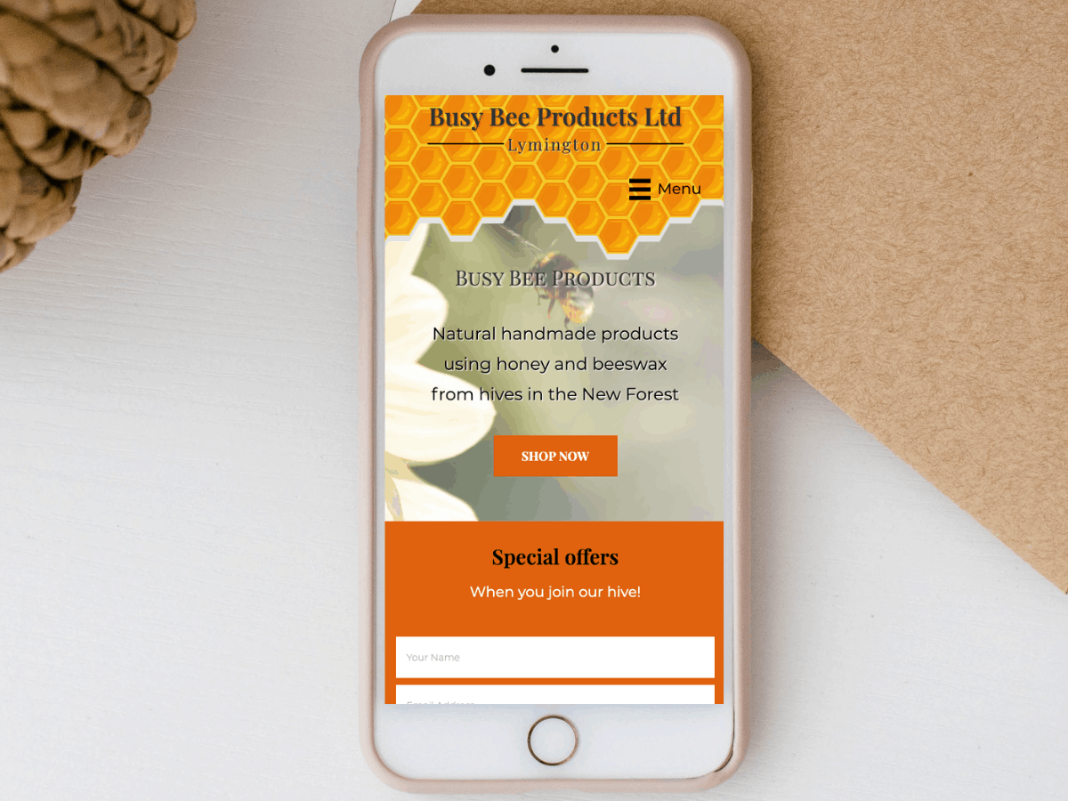 Website redesign for Busy Bee Products Ltd