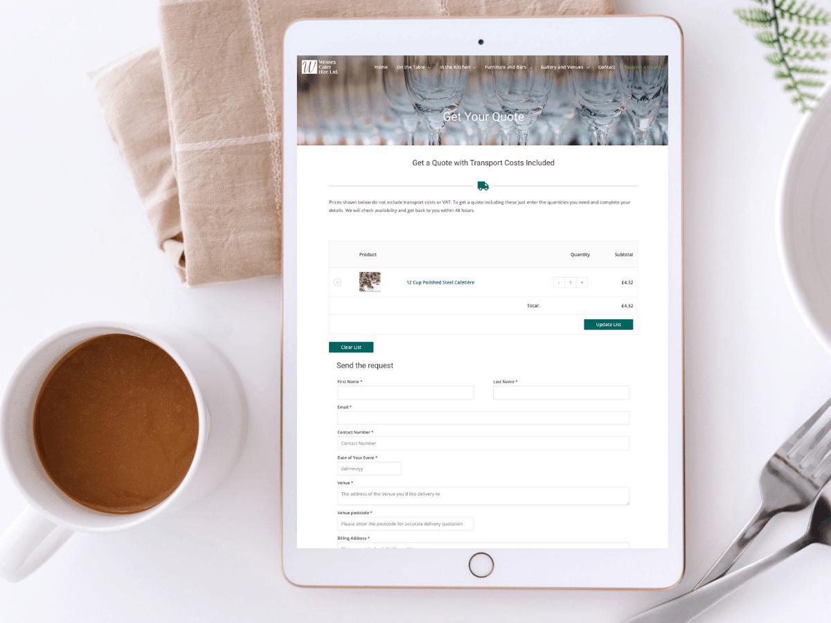 Improved Website for Wessex Cater Hire | Website Design