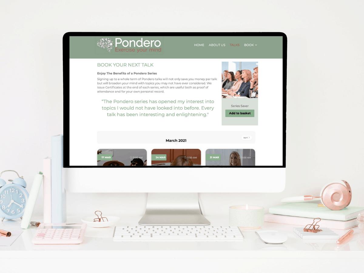 new website for pondero